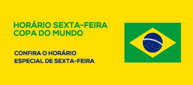 Horário Sexta-Feira - Copa do Mundo