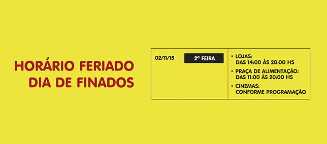 Confira os horários especiais do Shopping AguaVerde para o feriadão