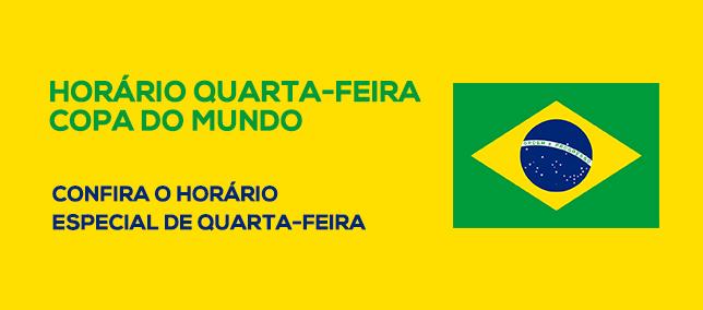 Horário Quarta - Copa do Mundo