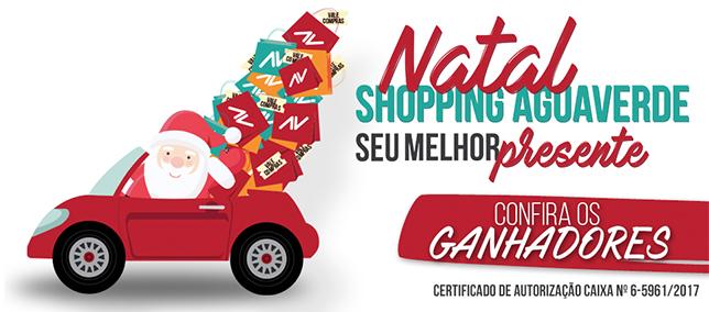 Natal Shopping AguaVerde - Ganhadores