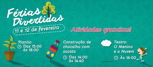 Confira as atividades infantis do Shopping para os dias 11 e 12