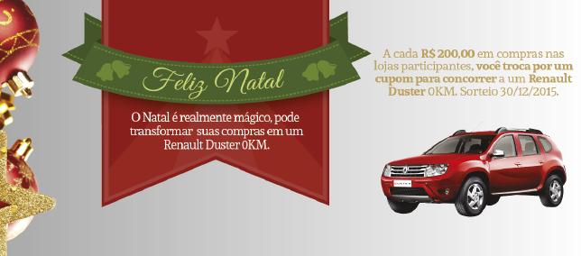 Faça suas compras de Natal no Shopping e concorra a um Duster